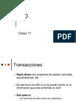 Clase 17 - Transacciones