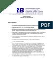 CWB Procedure and Rules
