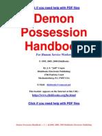 Demon Possession Handbook
