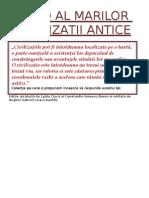 Ghid Al Marilor CivilizaŢii Antice  (reeditata)