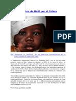 Muertos de Haiti Por El Colera