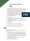 Oral Presentation Outline