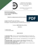 Bibliografie Proce Penala Master B