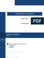 Spring.NET introduction