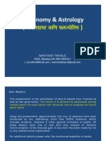Astronomy & Astrology by Santosh Takale (Year 2011)