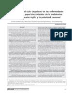 Alteraciones del ciclo circadiano en las enfermedades psiquiátricas- papel sincronizador de la melatonina en el ciclo sueño-vigilia y la polaridad neuronal