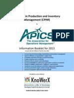 KEI APICS CPIM Information Booklet 2013.01