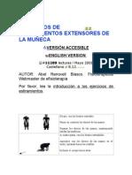 EJERCICIOS DE ESTIRAMIENTOS EXTENSORES DE LA MUÑECA