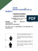 EJERCICIOS DE ESTIRAMIENTOS FLEXORES DE LA MUÑECA