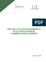 Protocolo de Auditoria Energetica de Las Instalaciones de Alumbrado Publico