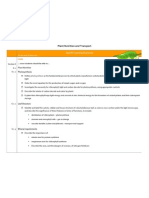 plant nutrition and transport scheme of work ext