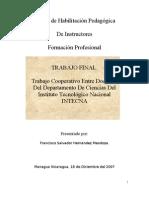 Trabajo Cooperativo Entre Docentes Del Dpto de Ciencias, InTECNA
