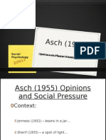 Asch (1955) Opinions and Social Pressure GMG PowerPoint