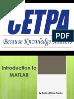 Summer Training in Matlab