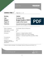 Barnet Council Budget Consultation 2009-10