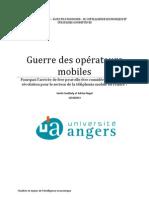La guerre des opérateurs mobiles - M2 IESC Angers - Coulibaly_Nagel