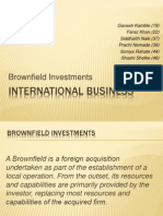 Brownfield Investments - International Business