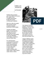 Sentado sobre los muertos - Miguel Hernández