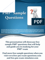 PMP Exam Sample Questions Set 1