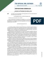 Presupuestos Andalucia 2013