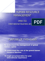 Global Human Resource Management Lecture 1
