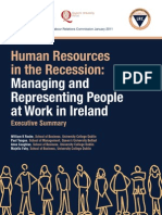 Exec SummExec Summary Human Resources in the Recessionary Human Resources in the Recession