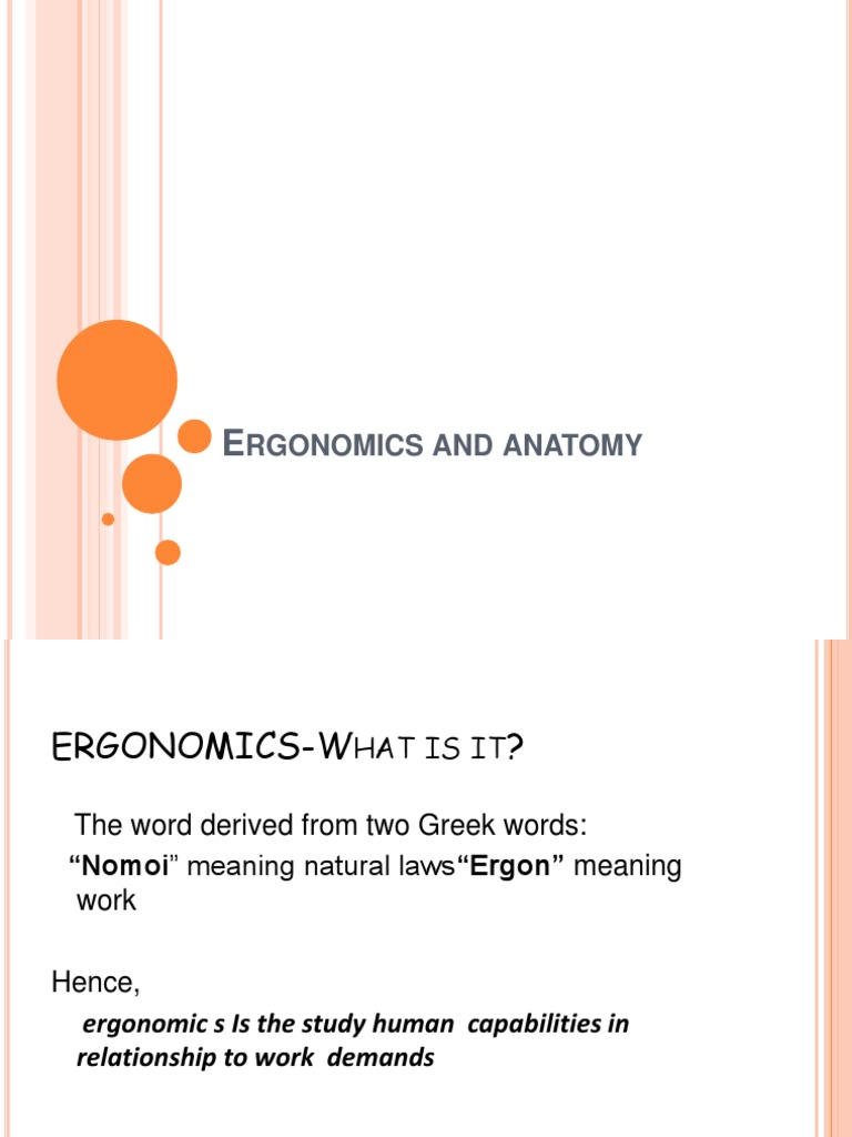 Ergonomics and Anatony | Human Factors And Ergonomics | Psychology ...