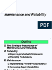 Maintenance and Reliability