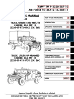 ARMY TM 9-2320-387-24-1 Mantainance UpArmor HumVee Vol 1 Jun09 ... M A Wiring Diagram Instrument Panel on