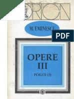 Eminescu, Mihai-Opere III de III