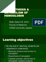 Biokim 1,2 - Biosynthesis of Hemoglobin