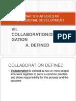 VIICollaborationandDelegation-ADefined