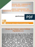 Consejos Instituto Nacional Migracion
