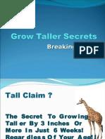 How to Get Taller - Grow Taller Secrets
