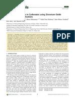 Wettability Alteration in Carbonates Using Zirconium Oxide N
