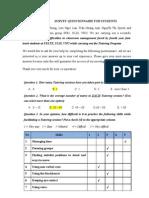 Hlinh - Survey Questionnaire for Students - Final [Tram Lan Nhung Quyen Ha]