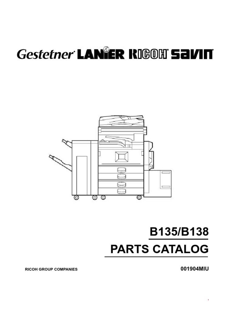 ricoh aficio 2035e 2045e parts manual screw printer computing rh scribd com ricoh aficio 2045e driver ricoh aficio 2045 service manual pdf
