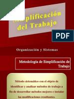 Simplificación del Trabajo