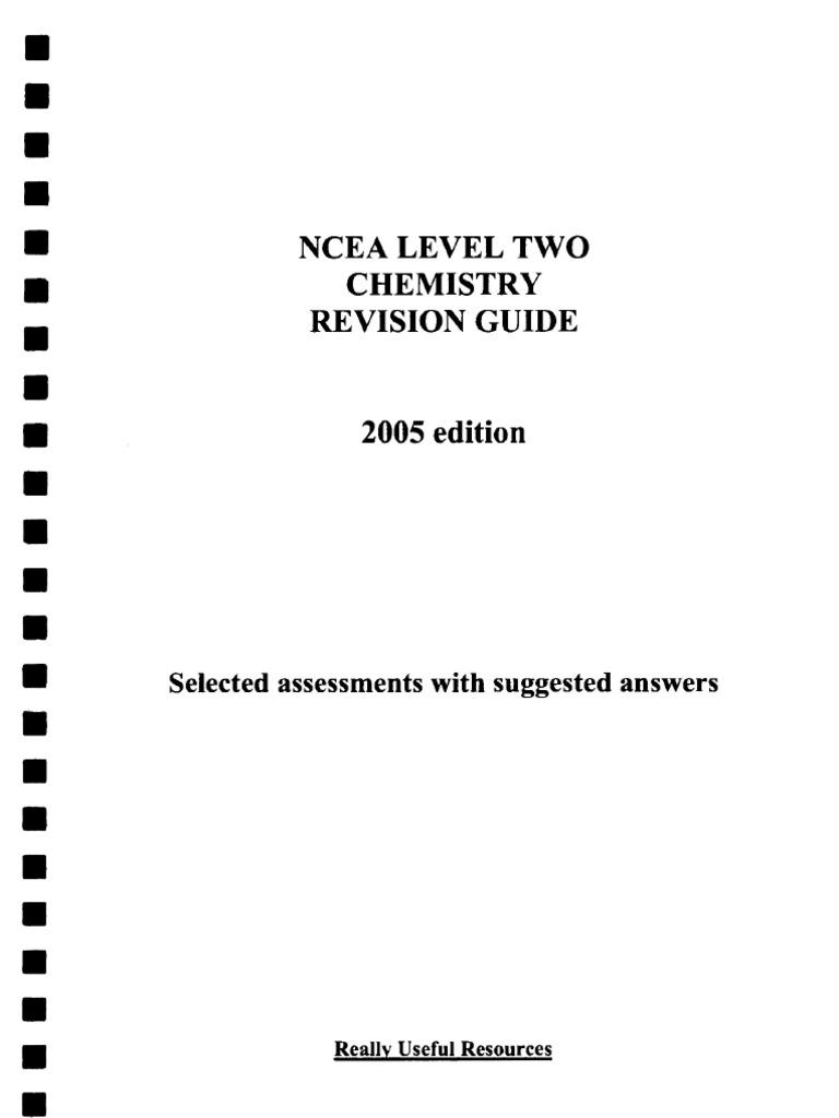 Ncea level two chemistry revision guide 2005 chemical bond molecules urtaz Choice Image