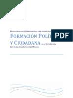 Propuesta de Diseño Curricular Formacion Politica y Ciudadana