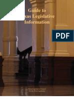 Guide to Texas Legislative Information