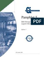 Pamphlet 5 Bulk Storage of Liquid Chlorine - Ci