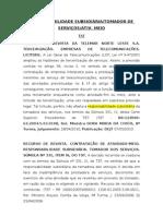 Jurisprudência - Terceirização  Lícita- Resp. Subsidiária