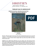 Christie's February Sale Of American Art | New York, 27 February