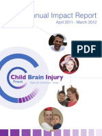 Child Brain Injury Trust Annual Impact Report April 2011 - March 2012