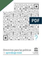 directrices para aprendizaje móvil UNESCO