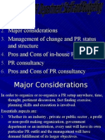 Organization of PR Department Staff and Budgeting Ch 3