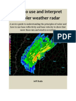 How to Read and Interpret Weather Radar