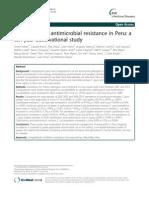 Campylobacter Resistance in Peru