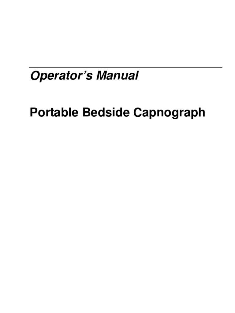 User Manual Capnografo Capno Stream | Monitoring (Medicine